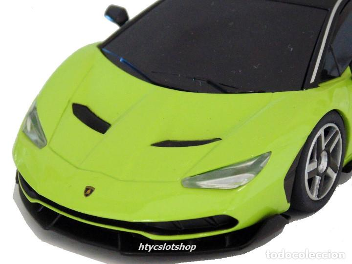 Slot Cars: SUPERSLOT LAMBORGHINI CENTENARIO GREEN SCALEXTRIC UK H3957 - Foto 8 - 135229046