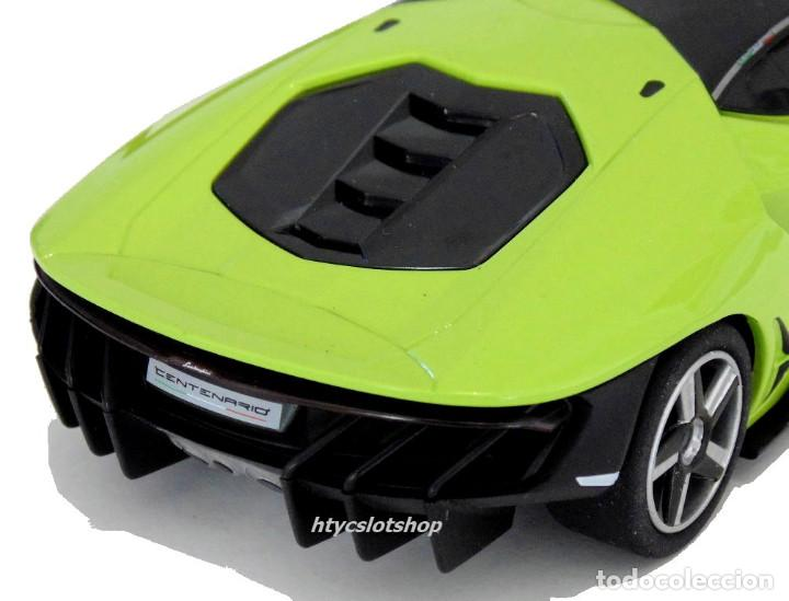 Slot Cars: SUPERSLOT LAMBORGHINI CENTENARIO GREEN SCALEXTRIC UK H3957 - Foto 10 - 135229046