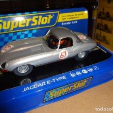 Slot Cars: SUPERSLOT. JAGUAR E TYPE. 1000 KM NURBURGRING 1963. REF. H3952. Lote 135628766