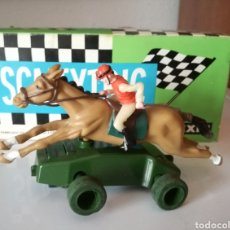 Slot Cars: JINETE CON CABALLO HORNBY TIPO SCALEXTRIC SLOT. Lote 135838599