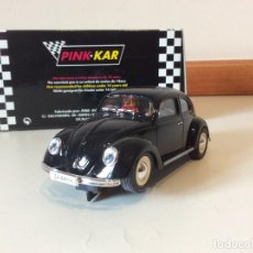 Slot Cars: VW BEETLE PINK KAR . Lote 136097182