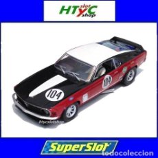 Slot Cars: SUPERSLOT FORD MUSTANG BOSS 302 #104 GARDNER BRITISH SALOON CHAMPIONSHIP SCALEXTRIC UK H3926. Lote 142329990