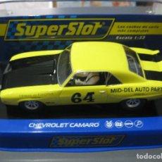 Slot Cars: CHEVROLET CAMARO AMARILLO Nº64 DE SUPERSLOT. Lote 137279250