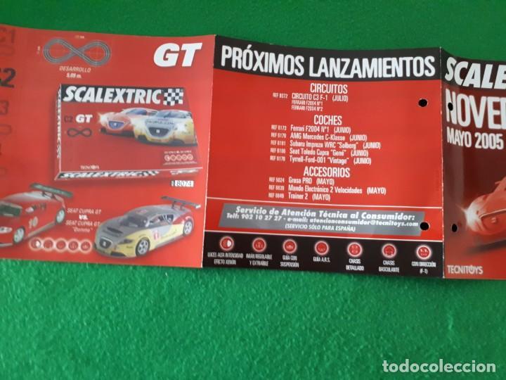 Slot Cars: Folleto Scalextric Novedades Mayo 2005 - Foto 2 - 137326046