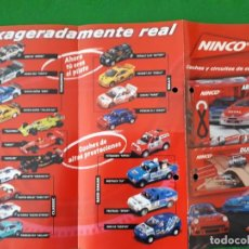 Slot Cars: FOLLETO/ FLYER A4 NINCO EXAGERADAMENTE REAL. Lote 137872082