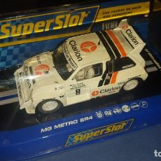 Slot Cars: SUPERSLOT MG METRO 6R4 SCALEXTRIC. Lote 140020706