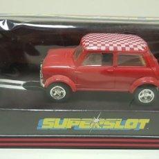 Slot Cars: J10- MINI COOPER ROJO SCALEXTRIC HORNBY SUPERSLOT C-038. Lote 141897126