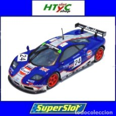 Slot Cars: SUPERSLOT MCLAREN F1 GTR #24 GULF EDITION 24 HS LE MANS 1995 SCALEXTRIC UK H3968. Lote 148151850