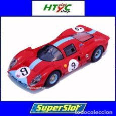 Slot Cars: SUPERSLOT FERRARI 412P #9 6 HS BRANDS HATCH 1967 ATTWOOD / PIPER SCALEXTRIC UK H3946. Lote 160974818