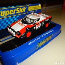 Slot Cars: SUPERSLOT. LANCIA STRATOS. SAN REMO 1978. MARKKU ALEN. REF. H3931. Lote 178993545