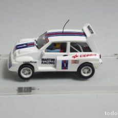 Slot Cars: SCALEXTRIC MG METRO 6R4 HORNBY TRANSFORMADO. Lote 143201370
