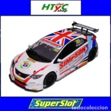 Slot Cars: OFERTÓN! SUPERSLOT HONDA CIVIC TYPE R #303 BTCC 2017 MATT SIMPSON SCALEXTRIC UK H3915. Lote 217387797