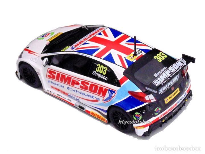 Slot Cars: OFERTÓN! SUPERSLOT HONDA CIVIC TYPE R #303 BTCC 2017 MATT SIMPSON SCALEXTRIC UK H3915 - Foto 4 - 143216090