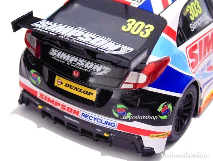 Slot Cars: OFERTÓN! SUPERSLOT HONDA CIVIC TYPE R #303 BTCC 2017 MATT SIMPSON SCALEXTRIC UK H3915 - Foto 7 - 143216090