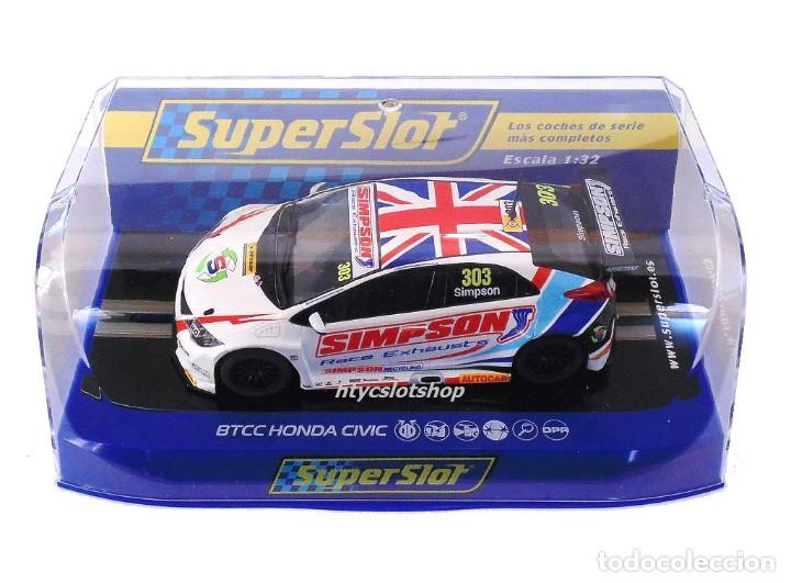 Slot Cars: OFERTÓN! SUPERSLOT HONDA CIVIC TYPE R #303 BTCC 2017 MATT SIMPSON SCALEXTRIC UK H3915 - Foto 9 - 143216090