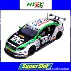 Slot Cars: OFERTÓN! SUPERSLOT VOLKSWAGEN PASSAT #24 BTCC 2017 JAKE HILL TEAM HARD SCALEXTRIC UK H3918. Lote 175453464