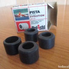 Slot Cars: POLISTIL: CAJA ORIGINAL 4 NEUMATICOS TRASEROS (MADE IN ITALY) ANTIGUO. Lote 143261518