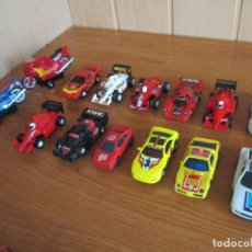 Slot Cars: SCALEXTRIC SLOT CARS : LOTE VARIADO DE 12 COCHES + 2 MOTOS. Lote 143780090