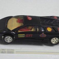 Slot Cars: HORNBY HOBBIES SCALEXTRIC LAMBORGHINI DIABLO NEGRO. Lote 143919134