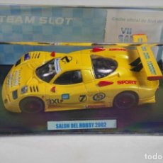 Slot Cars: SCALEXTRIC NISSAN R390 TEAM SLOT SALO DEL HOBBY 2002 EDICION LIMITADA. Lote 143919326