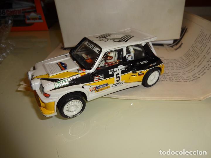 Slot Cars: Mini Réplicas. Renault 5 Maxi turbo. Sainz. Firmado !! - Foto 2 - 144408918