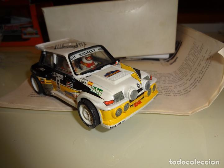 Slot Cars: Mini Réplicas. Renault 5 Maxi turbo. Sainz. Firmado !! - Foto 3 - 144408918