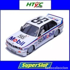 Slot Cars: SUPERSLOT BMW M3 E30 #56 MOBIL PETER BROCK / JIM RICHARDS 1000 BATHURST 1988 SCALEXTRIC UK 3929. Lote 145230042