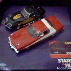 Slot Cars: STARSKY HUTCH GRAND TORINO 1976 Y CORVETTE 1969 SUPERSLOT TIPO SCALEXTRIC EN CAJA LEER ED LIMITADA. Lote 147495290