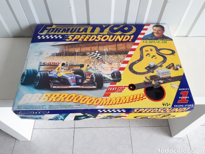 PISTA DE COCHES FORMULA TYCO SPEED SOUND NIGEL MANSELL (Juguetes - Slot Cars - Magic Cars y Otros)
