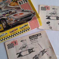 Slot Cars: FALLER SLOT 1:32, SIMILAR SCALEXTRIC. CAJA E INSTRUCCIONES DEL FORD GT. LO QUE SE VE EN LAS FOTOS. Lote 148691390