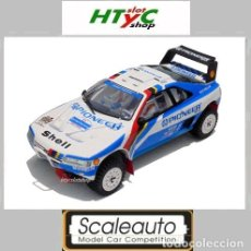 Slot Cars: SCALEAUTO PEUGEOT 405 #204 / #206 RAID PARIS-DAKAR 1989 VATANEN / ICKX PIONEER SC 6120. Lote 148992762