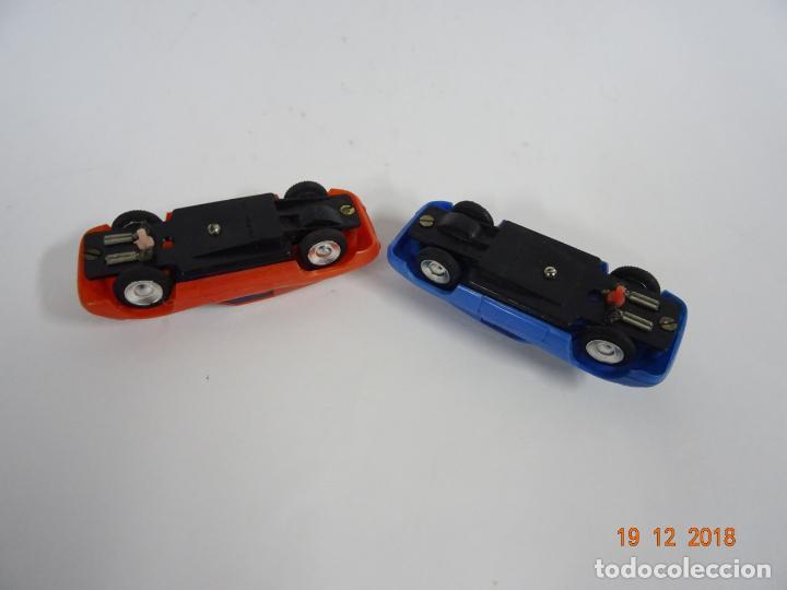 Slot Cars: Antiguo Circuito y Coches Slot con 2 PORSCHE GT LE MANS Fabricado en Hong Kong - Foto 8 - 149580322