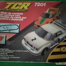 Slot Cars: TCR 7201 PISTA DE CARRERAS CON CAMBIO CARRIL, POR CONTROL A DISTANCIA DE MODEL-IBER. Lote 206395507