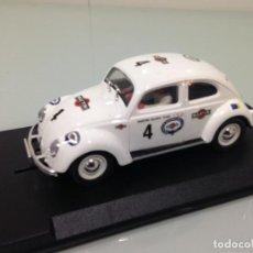 Slot Cars: SLOT, PINK-KAR, VW VOLKSWAGEN BEETLE-ESCARABAJO Nº3, MARTINI. Lote 151435302