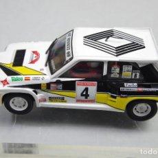 Slot Cars: SCALEXTRIC RENAULT 5 MAXI TURBO C. SAINZ + CHASIS. Lote 151610874