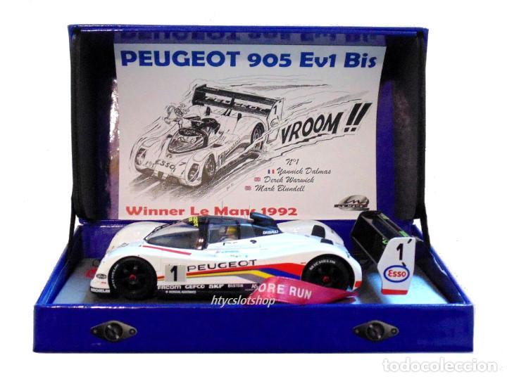 Slot Cars: LE MANS MINIATURES PEUGEOT 905 EV1 #1 WINNER LE MANS 1992 DALMAS / WARWICK / BLUNDELL 132023EVO/1M - Foto 13 - 152540718