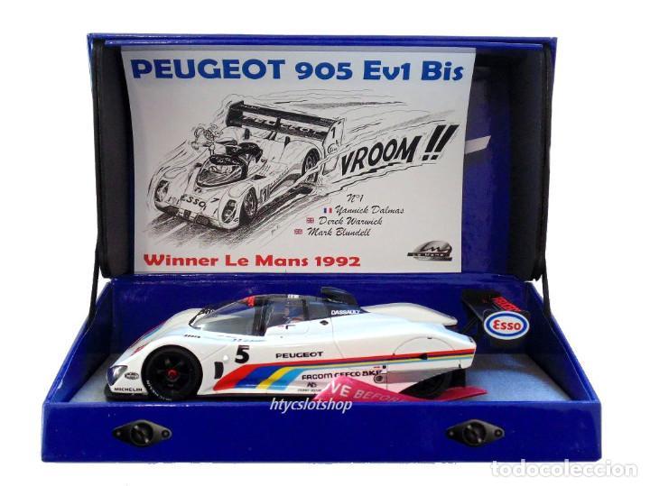 Slot Cars: LE MANS MINIATURES PEUGEOT 905 #5 24 HS LE MANS 1991 BALDI / JABOUILLE / ALLOIT 132075/5M - Foto 13 - 159518082