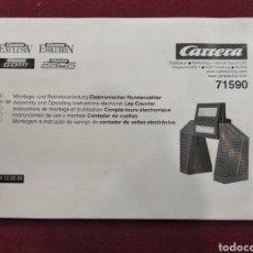 Slot Cars: MANUAL. INSTRUCCIONES DE USO Y MONTAJE CONTADOR DE VUELTAS CARRERA 71590. Lote 161079726