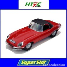Slot Cars: SUPERSLOT JAGUAR E-TYPE 848CRY ROJO THE ITALIAN JOB SCALEXTRIC UK H4032. Lote 195418772
