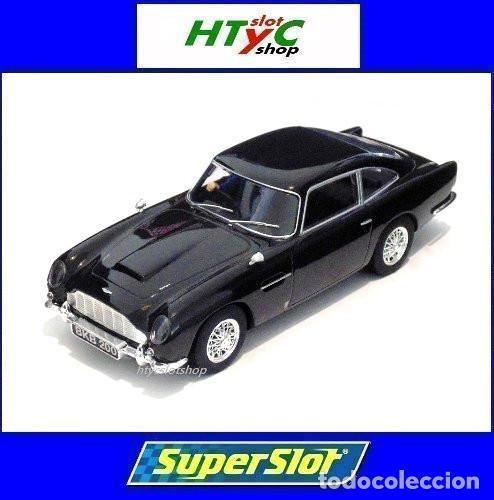 SUPERSLOT ASTON MARTIN DB5 GLOSSY BLACK SCALEXTRIC UK H4029 (Juguetes - Slot Cars - Magic Cars y Otros)