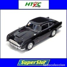 Slot Cars: SUPERSLOT ASTON MARTIN DB5 GLOSSY BLACK SCALEXTRIC UK H4029. Lote 176207629