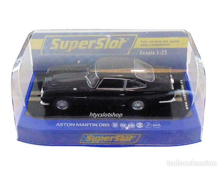 Slot Cars: SUPERSLOT ASTON MARTIN DB5 GLOSSY BLACK SCALEXTRIC UK H4029 - Foto 12 - 176207629