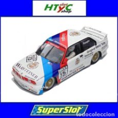 Slot Cars: SUPERSLOT BMW E30 M3 #15 RAVAGLIA WARSTEINER WINNER DTM 1989 SCALEXTRIC UK H4040. Lote 165205418