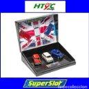 Slot Cars: SUPERSLOT MINI DIAMOND EDITION COMMEMORATIVE 60 ANIVERSARIO TRIPLE PACK SCALEXTRIC UK H4030A. Lote 165586170