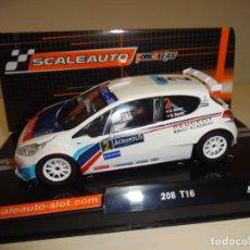 Slot Cars: SCALEAUTO. PEUGEOT 208 IRC. WINNER ACROPOLIS 2014. REF. SC-6118. Lote 166333726