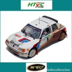 Slot Cars: SRC OSC PEUGEOT 205 T16 #6 EFECTO SUCIO WINNER RALLY PORTUGAL 1985 SALONEN / HARJANNE 03603. Lote 158570924