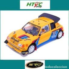 Slot Cars: SRC OSC PEUGEOT 205 T16 EVO2 CAMEL TEST PIKES PEAK HILL CLIMB 1987 ARI VATANEN 03703. Lote 168051048
