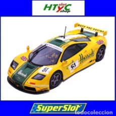 Slot Cars: SUPERSLOT MCLAREN F1 GTR #51 HARRODS DEREK BELL / ANDY WALLACE 24 H LE MANS 1995 SCALEXTRIC UK H4026. Lote 167667880