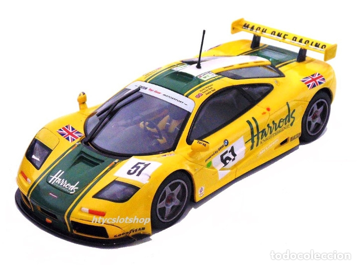Slot Cars: SUPERSLOT MCLAREN F1 GTR #51 HARRODS DEREK BELL / ANDY WALLACE 24 H LE MANS 1995 SCALEXTRIC UK H4026 - Foto 2 - 167667880