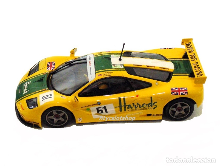 Slot Cars: SUPERSLOT MCLAREN F1 GTR #51 HARRODS DEREK BELL / ANDY WALLACE 24 H LE MANS 1995 SCALEXTRIC UK H4026 - Foto 3 - 167667880